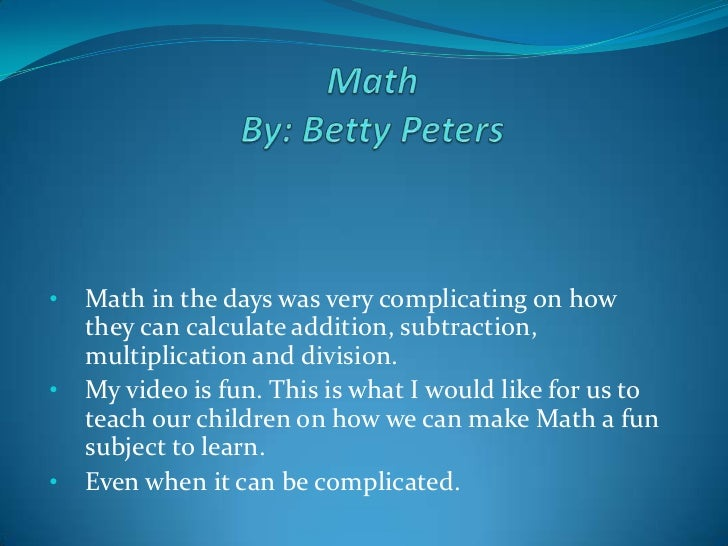 math fun ppt