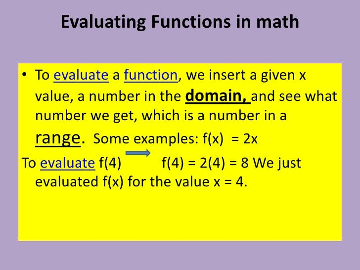 Math Functions, Relations, Domain & Range