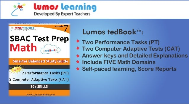 SBAC Test Prep Grade 7 Math