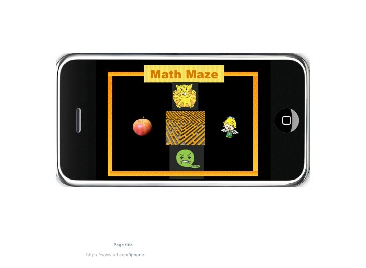 Math Maze                                   Topic                 Page title  https://www.url.com/iphone