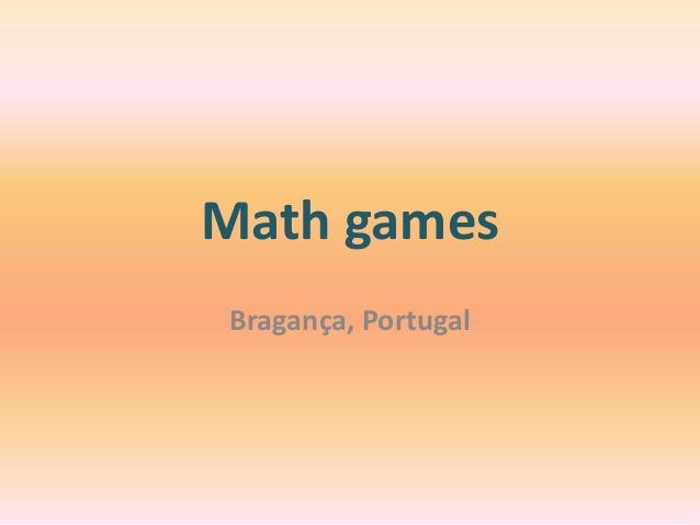 Math games Bragança, Portugal