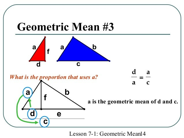 how to use geometric mean