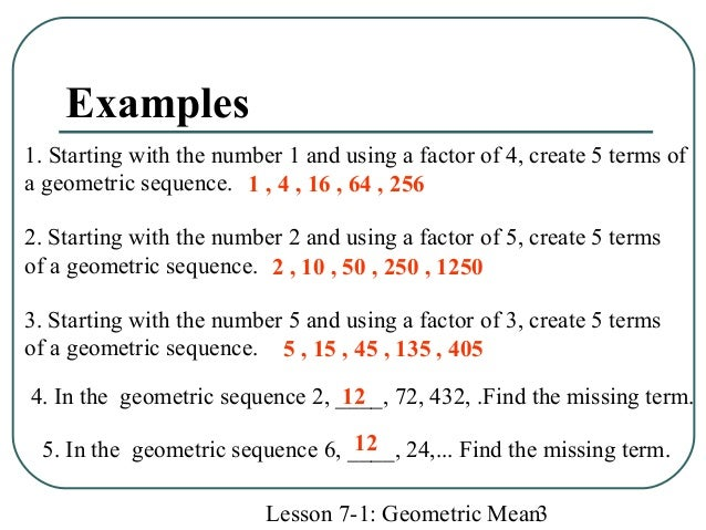 Math Geometric Mean