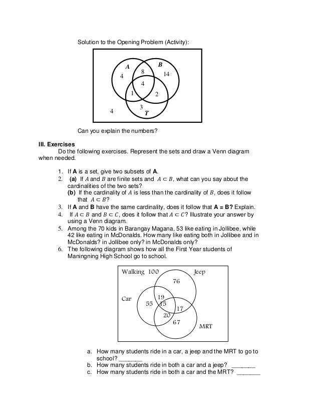 Analyzing venn diagrams venn diagrams diagram and students rh venn diagram word problems worksheet with answers venn diagram worksheets word problems using two ccuart Choice Image