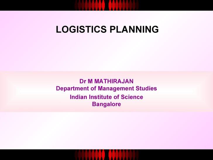 <ul><li>Dr M MATHIRAJAN </li></ul><ul><li>Department of Management Studies </li></ul><ul><li>Indian Institute of Science <...