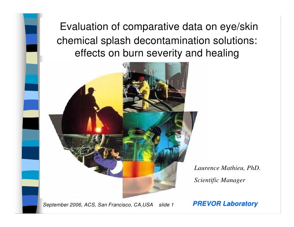 Evaluation of comparative data on eye/skin      chemical splash decontamination solutions:         effects on burn severit...