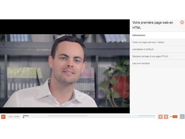 CONSORTIUM OpenClassrooms   • RédacMon,  publicaMon  et  versionnement   • AnnotaMons   • Tableaux  de  ...