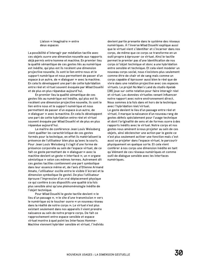 40L'EXPÉRIENCE IMMERSIVE DU NUMÉRIQUE Simulation et interactivité A.3  La notion de «spectacteur» Le développement de ...