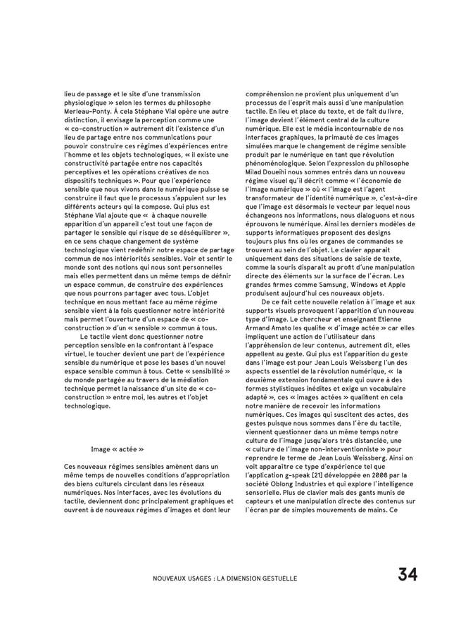 [26] Tangible Media Group, projet InFORM, 2013 [23] Samuel Bianchini «L'interface-conscience comme modéle», Essai, 1997 [2...