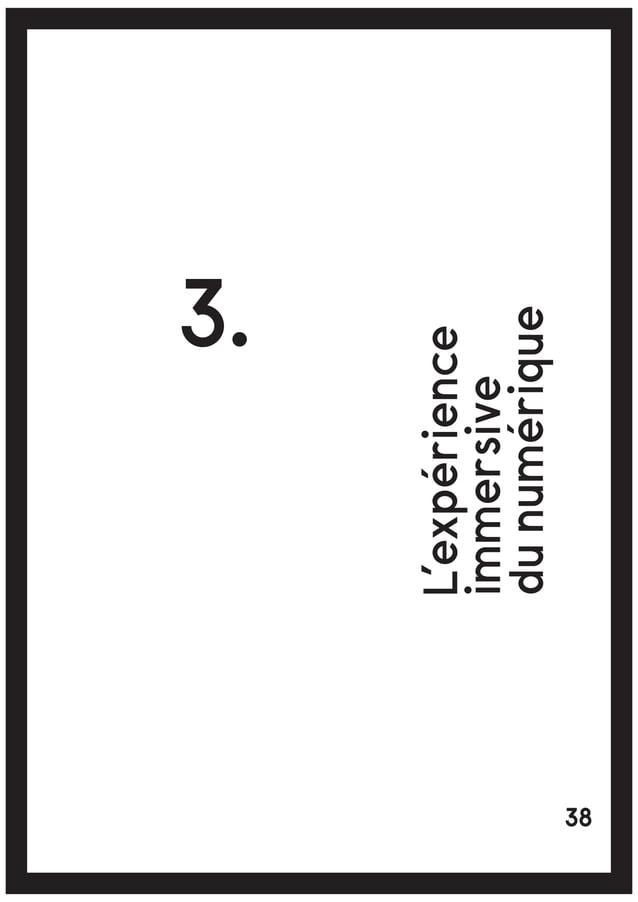 [27] Arcade Fire, SPRAWL2, clip, décembre 2011 40L'EXPÉRIENCE IMMERSIVE DU NUMÉRIQUE Notes
