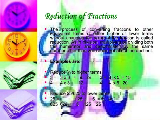 Math in business boa 31 reduction of fractionsreduction fandeluxe Gallery