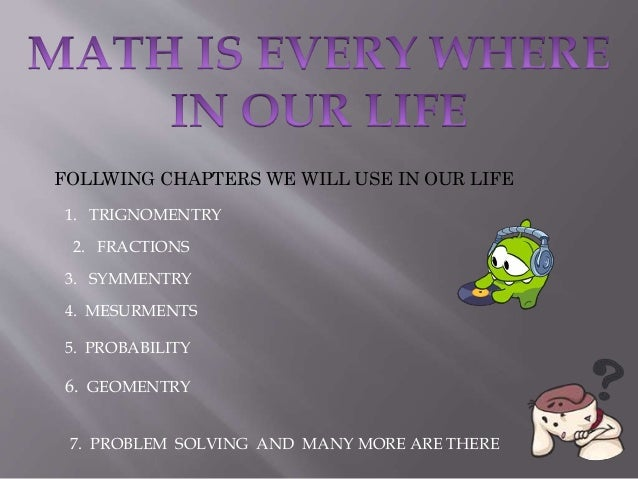 problems in everyday life that need solving math