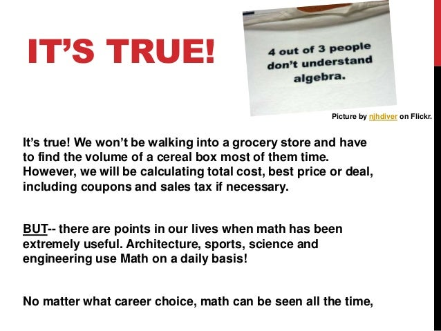 Math in real life!