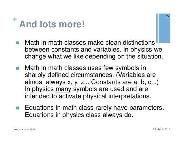Barriers Students Face In Learning To Use Math In Science