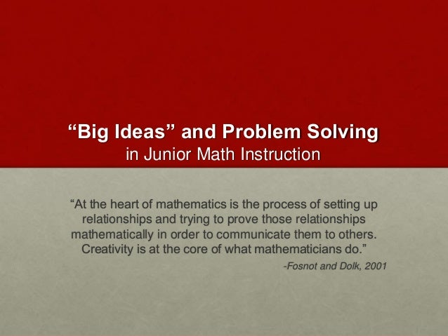 thesis on mathematics instruction The effectiveness of manipulatives in a high this open access thesis is brought to you for free and open into mathematics instruction is called the.