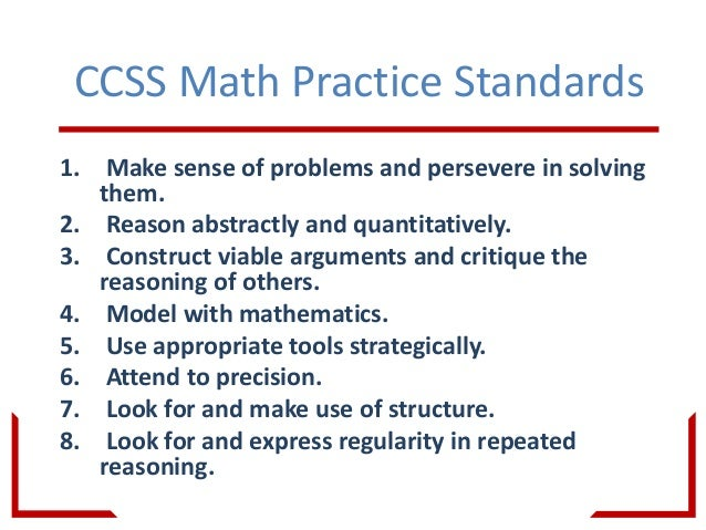 Math Instruction and the Common Core--How to help your students Maste…