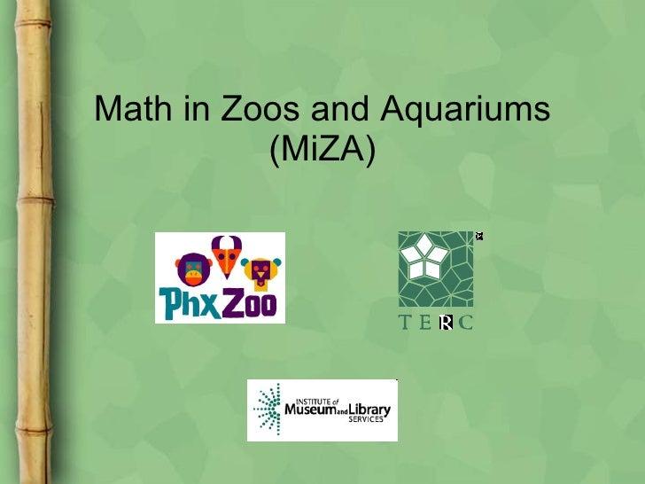 Math in Zoos and Aquariums (MiZA)