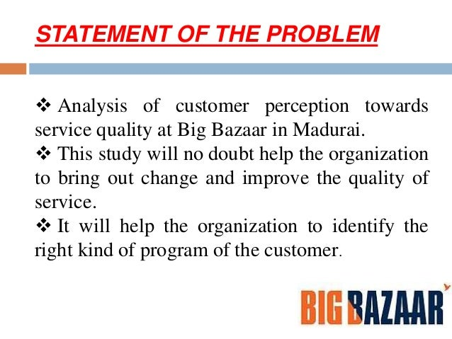 research problem in big bazaar Find big bazaar latest news, updates, news articles and more information on big bazaar from business insider india  san francisco has a 'poop patrol' to deal with its feces problem, and.