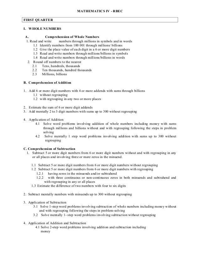budget of work in mathematics vi