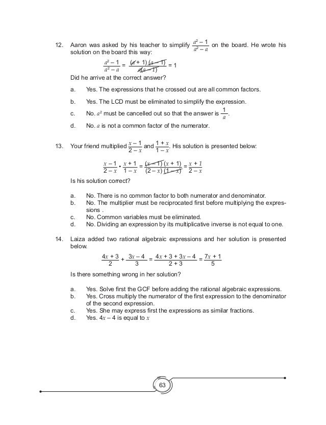 K to 12 grade 8 math learner module fandeluxe Image collections