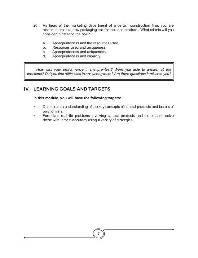 Module in Araling panlipunan Iv