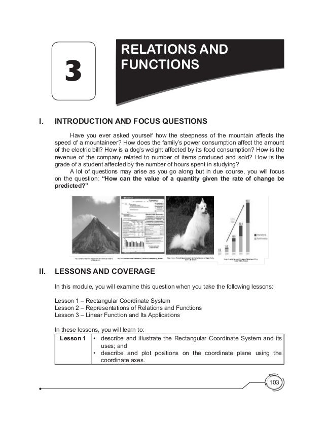 103 I.	 INTRODUCTION AND FOCUS QUESTIONS 	 Have you ever asked yourself how the steepness of the mountain affects the spee...
