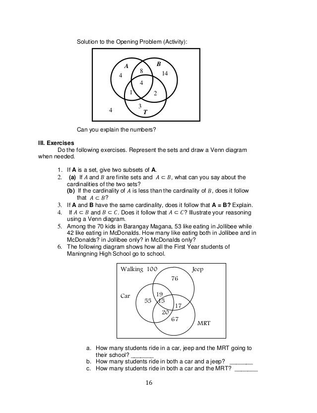 Venn Diagram Math Problems Manual Guide