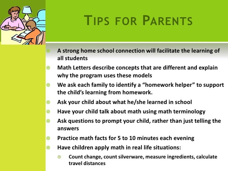 Reading homework help for parents