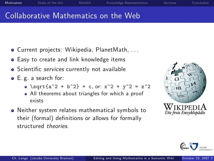 Editing And Using Mathematics In A Semantic Wiki