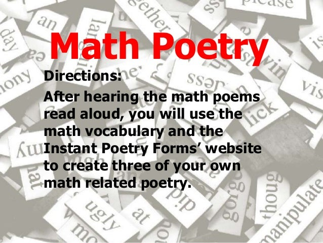a comparison of mathematics and poetry