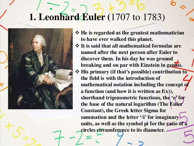 a study of the mathematical models of euler circuits of leonhard euler Planar graphs, biplanar graphs and graph thickness 12 two models of the same circuit the concept of a graph grew from a problem leonhard euler had.