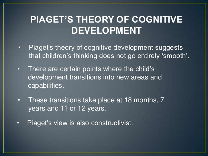 a look at the area of development and theory of cognitive development constructivist theory Constructivist theories of cognitive development in adolescence human learning  is constructed constructivist-oriented teaching builds upon what students.