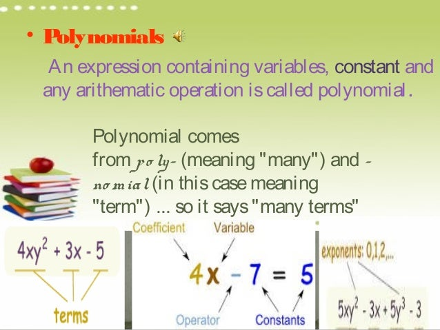 Polynomials PPT Class 9 Mathematics Class 9 Notes