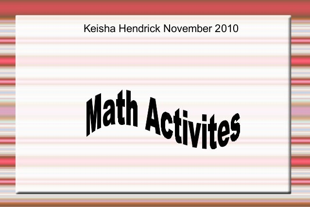 Keisha Hendrick November 2010