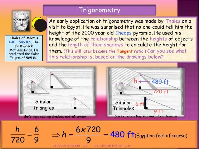 Math project some applications of trigonometry