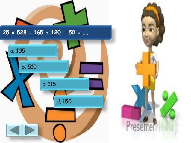 Soal Pengerjaan Hitung Bilangan Bulat Matematika Kelas 5 Ktsp