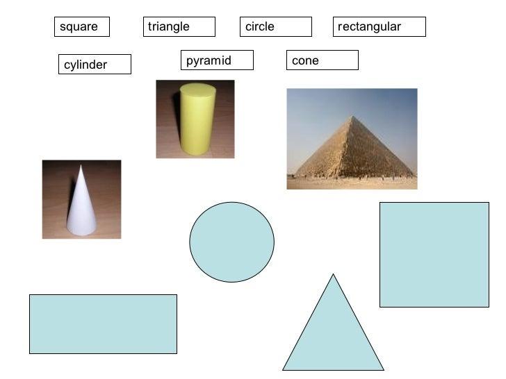 square pyramid cone rectangular cylinder circle triangle