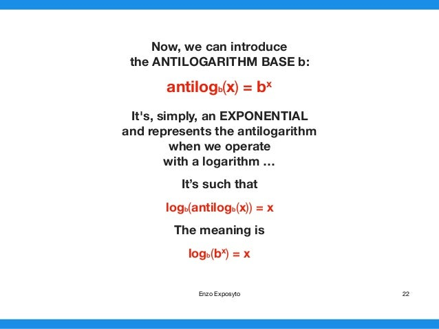 Maths Symbols Exponentials Logarithms And Their Properties