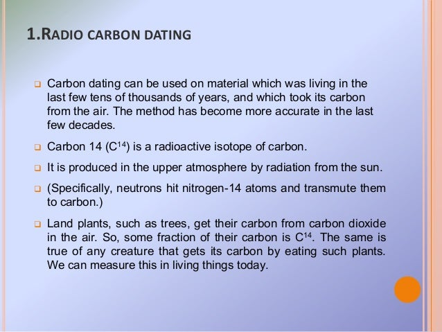 Project on radiocarbon dating