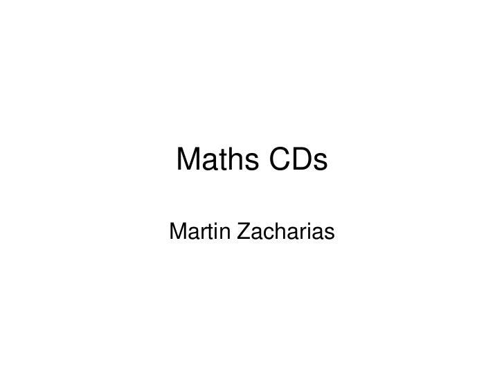 Maths CDsMartin Zacharias