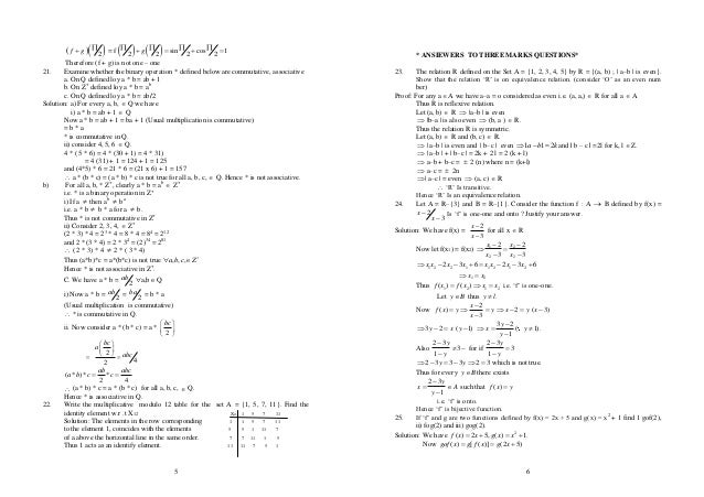 Maths chapter wise Important questions
