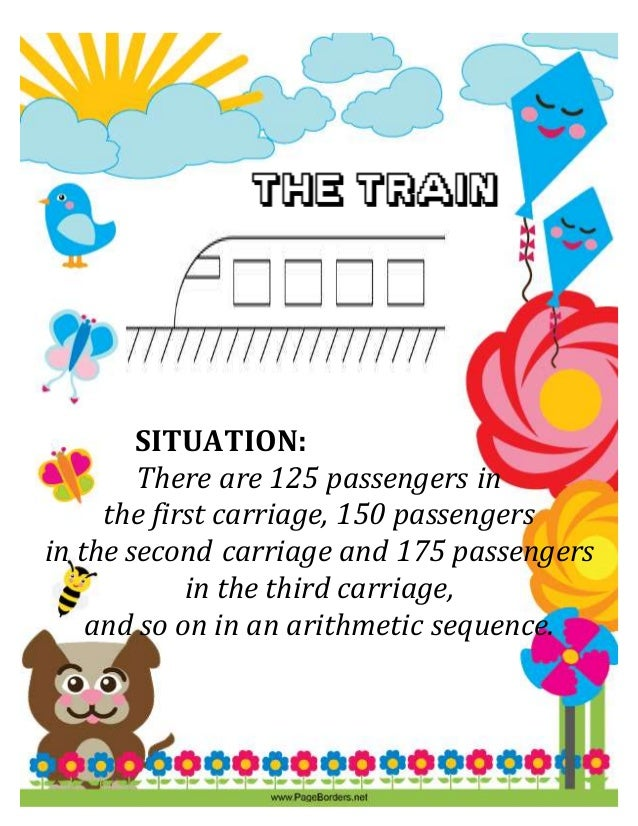 SITUATION: SITUATION: There are 125 passengers in the first carriage, 150 passengers in the second carriage and 175 passen...