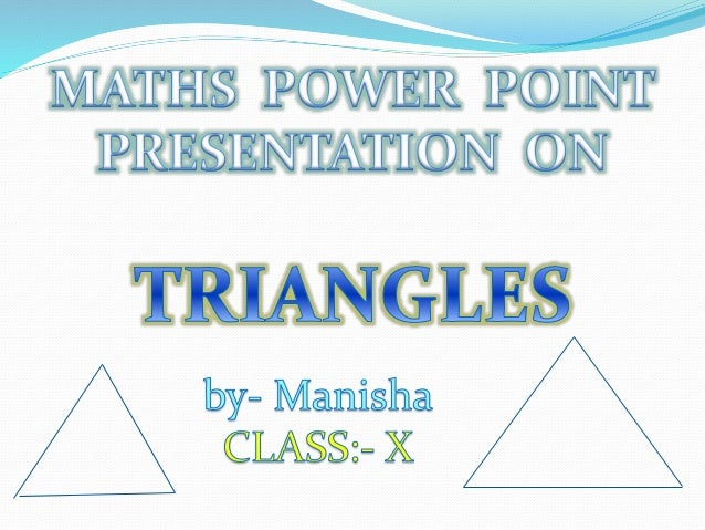ppt on triangles for class x