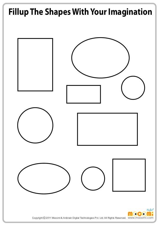 Imagining shapes – Maths Worksheets for Kids
