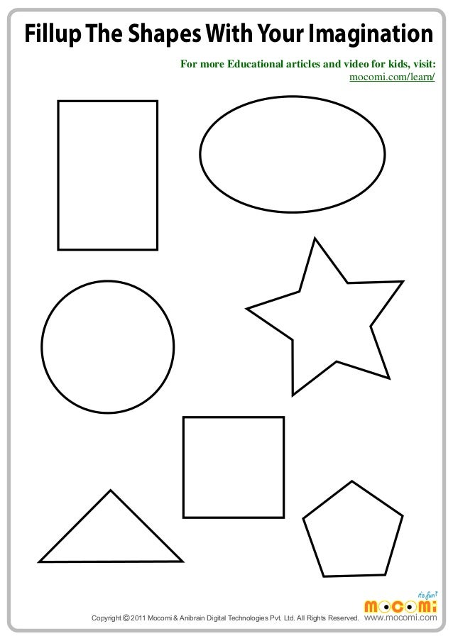 Imagining shapes Maths Worksheets for Kids Mocomi – Shapes Maths Worksheets