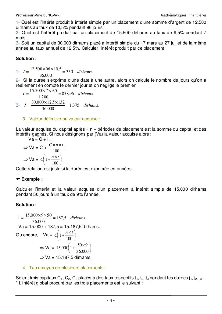 Maths Financier S4 Biffe