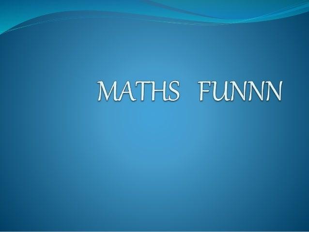 maths funnn