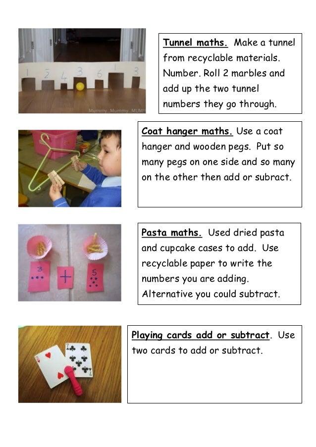 Maths homework ideas 2