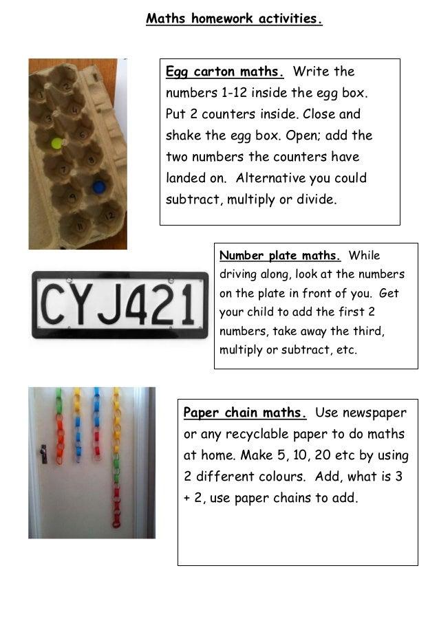 Maths homework ideas 3