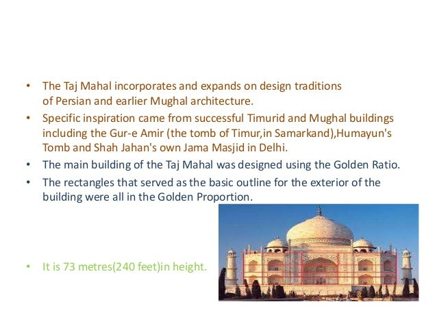 Maths in architecture of the taj mahal